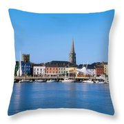 The Quays, Wexford, County Wexford Throw Pillow