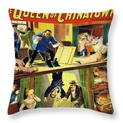 The Queen Of Chinatown Throw Pillow