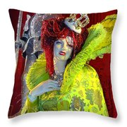 The Queen Of Fashion Throw Pillow