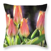 The Queen's Tulips Throw Pillow