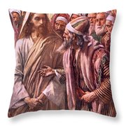 The Question Of The Sadducees Throw Pillow