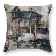 The Quiet District Throw Pillow