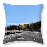 The Quiet Fall Throw Pillow