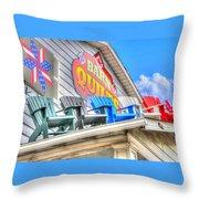 The Quilt Barn Throw Pillow