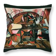 The Quilt Lady Throw Pillow