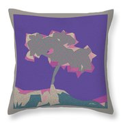 The Quilted Rain Tree At Ramona Throw Pillow
