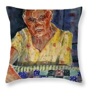 The Quilter Throw Pillow