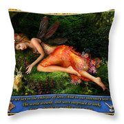 The Rabbit And The Dove Throw Pillow