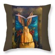 The Rabbit Story Throw Pillow
