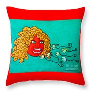 The Spermatozoes Race. Throw Pillow