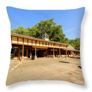 The Railroad Station In Scarsdale Throw Pillow
