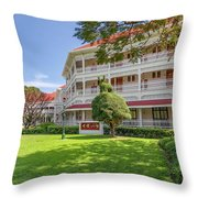 The Railway Hotel Throw Pillow