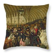 The Railway Station Throw Pillow