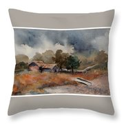 The Rain Is Coming Throw Pillow