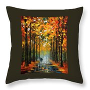 The Rain Is Gone Throw Pillow