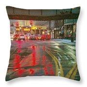 The Rain Painting Throw Pillow