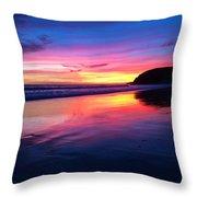The Rainbow Blues Throw Pillow