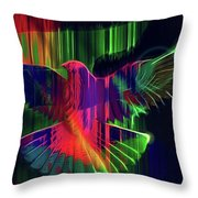 The Rainbow Dove  Throw Pillow