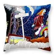 The Rainbow Family Moved Away Throw Pillow