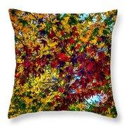 The Rainbow Tree Throw Pillow