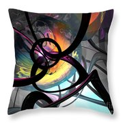 The Randomness Of It All Abstract Throw Pillow