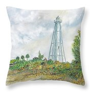 The Range Lighthouse Throw Pillow