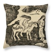 The Rape Of Europa Throw Pillow
