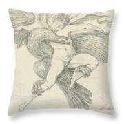 The Rape Of Ganymede Throw Pillow