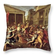 The Rape Of The Sabines Throw Pillow