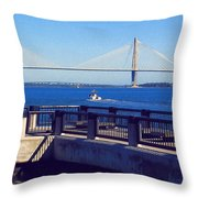 The Ravenel Bridge Throw Pillow