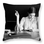 The Reader. Throw Pillow