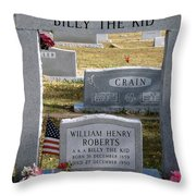 The Real Billy The Kid Throw Pillow
