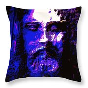 The Real Face Of Jesus Throw Pillow