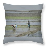 The Real Hero Working In The Field Throw Pillow
