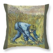 The Reaper After Millet Throw Pillow