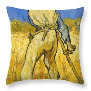 The Reaper Throw Pillow by Vincent van Gogh