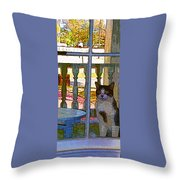 The Rear Window Throw Pillow