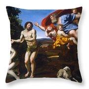 The Rebuke Of Adam And Eve Throw Pillow
