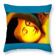 The Recining Buddha Throw Pillow