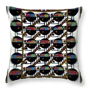 The Record Collection Throw Pillow