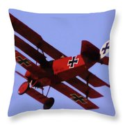 The Red Baron II Throw Pillow