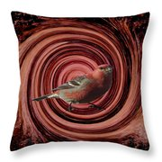 The Red Bird Throw Pillow