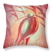 The Red Bird Throw Pillow