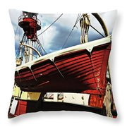The Red Boat Throw Pillow