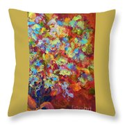 The Red Bouquet Throw Pillow