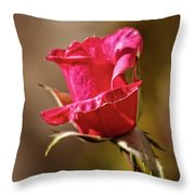 The Red Bud Throw Pillow