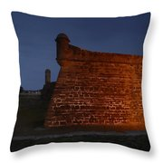 The Red Castillo Throw Pillow