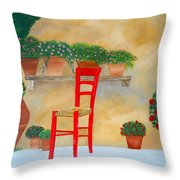 The Red Chair, Tuscany Throw Pillow