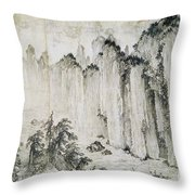 The Red Cliff Throw Pillow