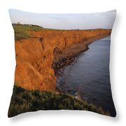 The Red Cliffs Of Prince Edward Island Throw Pillow